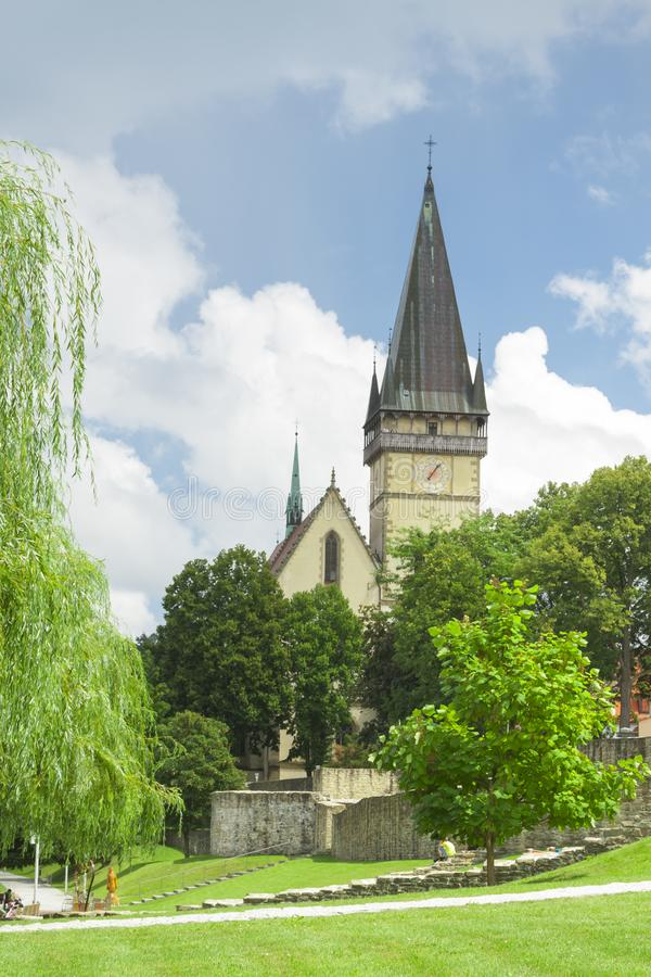 La Slovaquie, Bardejov, St Egidius Basilica, été photographie stock
