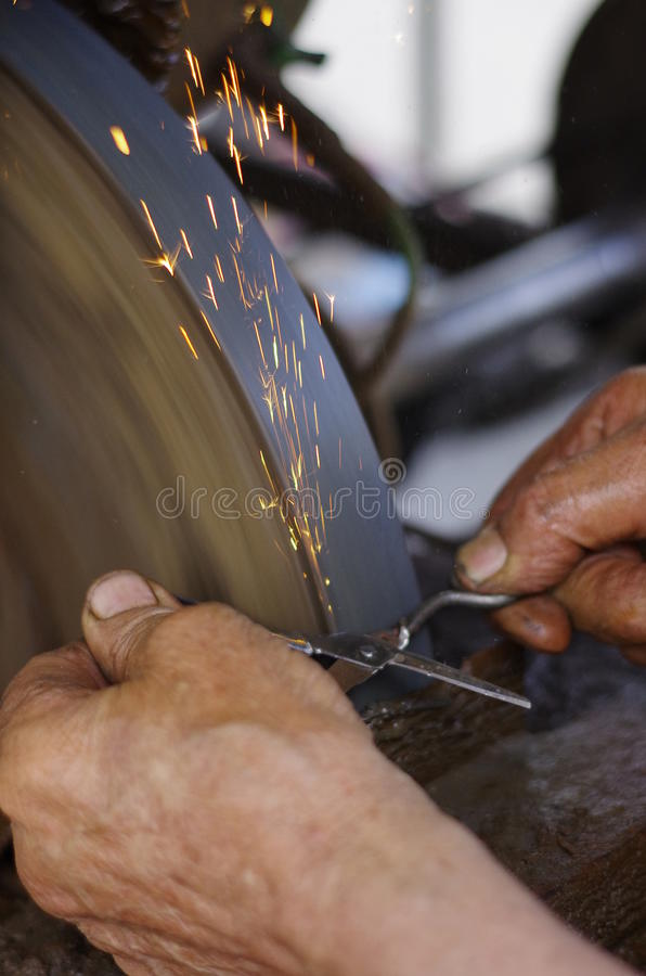 La smerigliatrice III fotografia stock libera da diritti