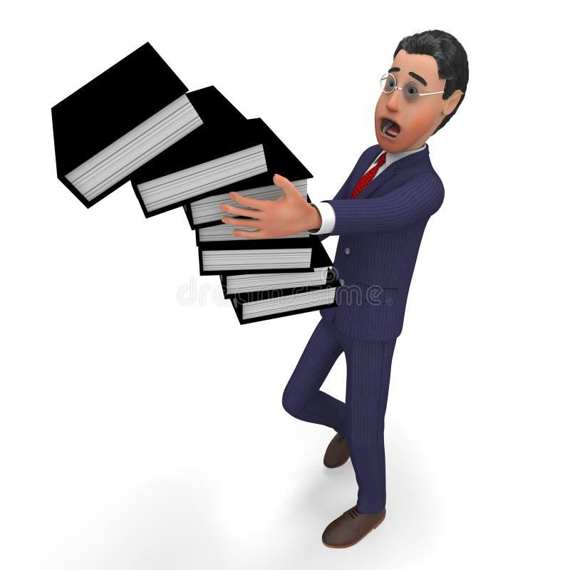 La sobrecarga de información indica el hombre y la administración de negocios stock de ilustración