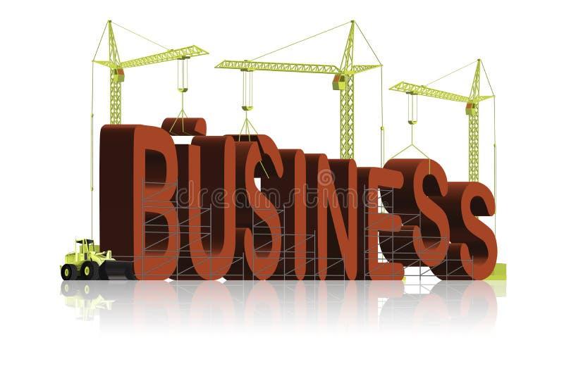 la société commerciale de construction produisent l'idée de réussite illustration libre de droits