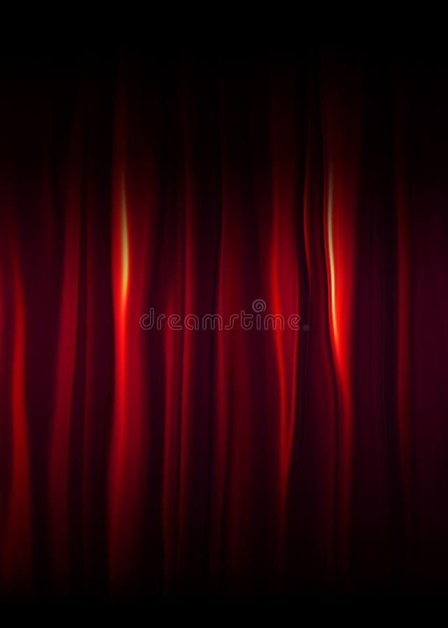 La soie rouge drape illustration stock