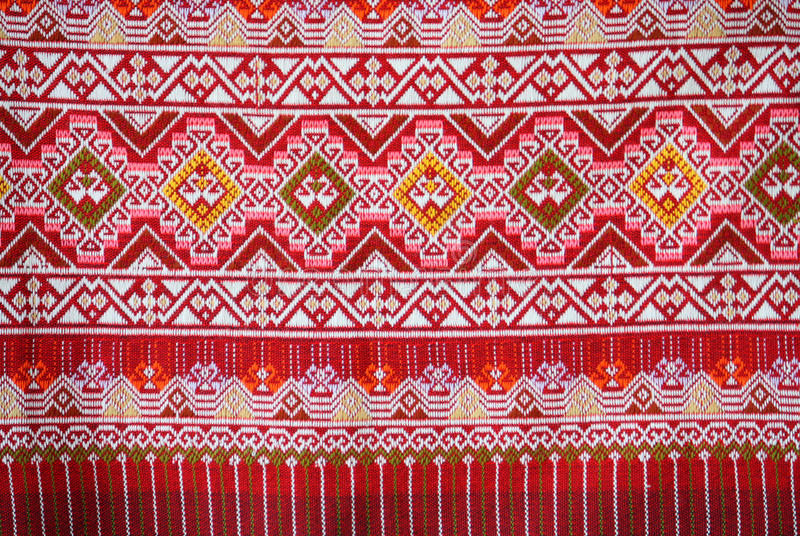 La soie thaïlandaise colorée handcraft photo stock