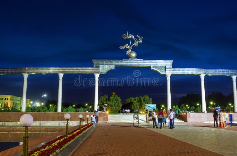 La soirée à Tashkent images libres de droits