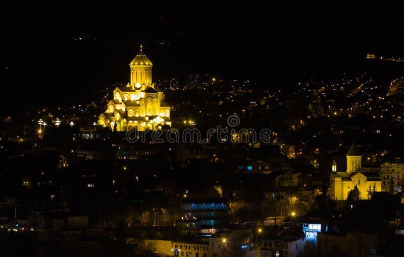 Download La Soirée Allume L'ander Tbilisi Image stock - Image du beauté, cityscape: 45350557
