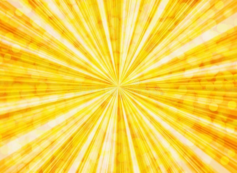 La sol burbujea los fondos ilustración del vector