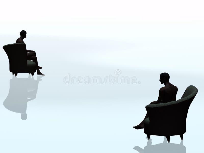 La soledad es un asesino. stock de ilustración
