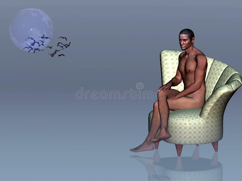 La solitude est un tueur. illustration libre de droits