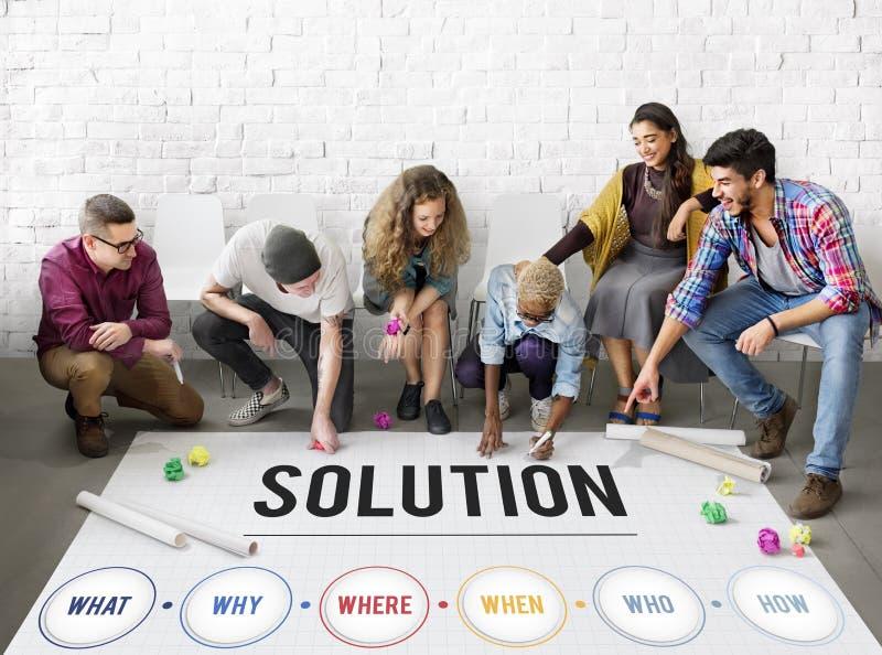 La solución de problemas de la solución comparte concepto de las ideas imágenes de archivo libres de regalías