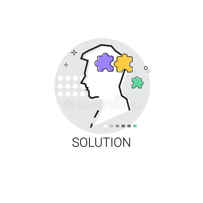 La solution pensent l'icône de processus créative d'affaires de nouvelle inspiration d'idée illustration de vecteur