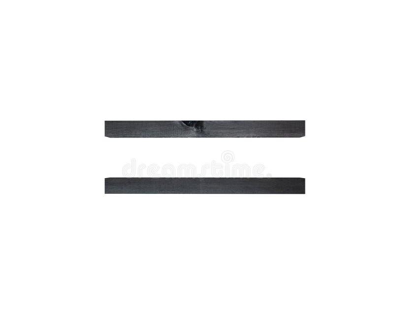La somme égale de texture en bois de noir d'alphabet chantent la lettre de marque illustration du rendu 3d illustration de vecteur