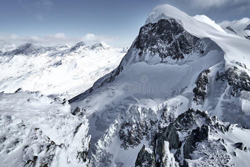 La sommità di Breithorn, alpi, Svizzera, Europa fotografie stock libere da diritti