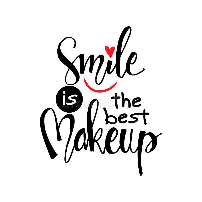 La sonrisa es el mejor maquillaje stock de ilustración