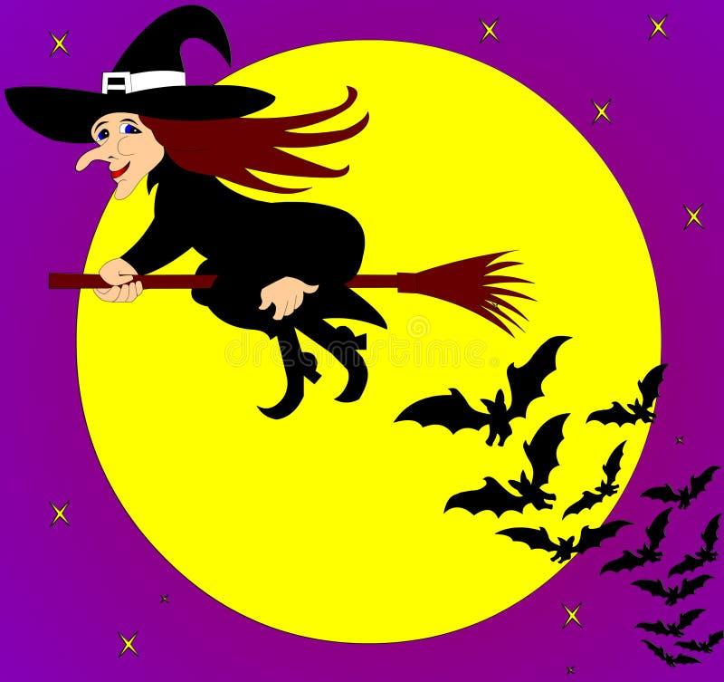 La sorcière de vol illustration de vecteur