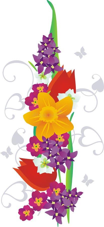 La sorgente fiorisce la ghirlanda illustrazione di stock