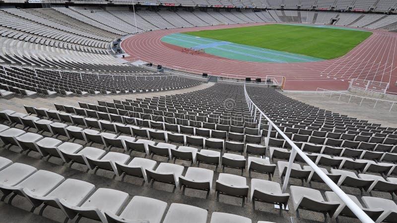 La sosta olimpica di Barcellona fotografia stock