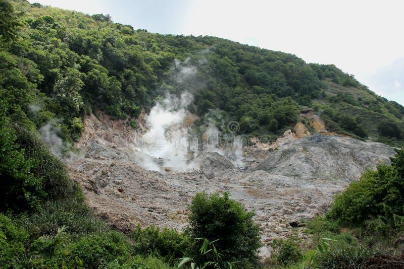 La Soufriere火山 图库摄影