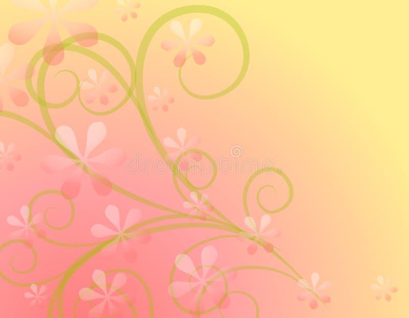La source fleurit le fond rose mou illustration libre de droits
