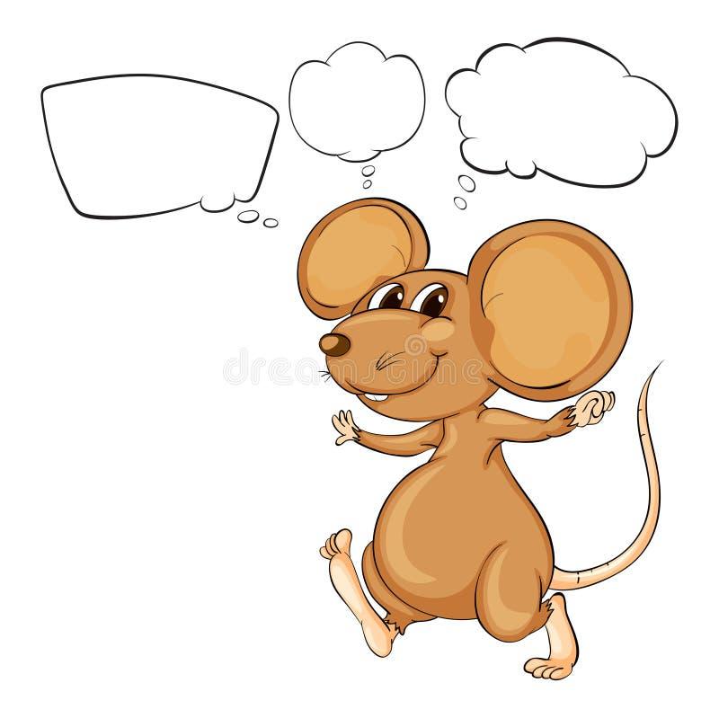 La souris brune puissante illustration libre de droits