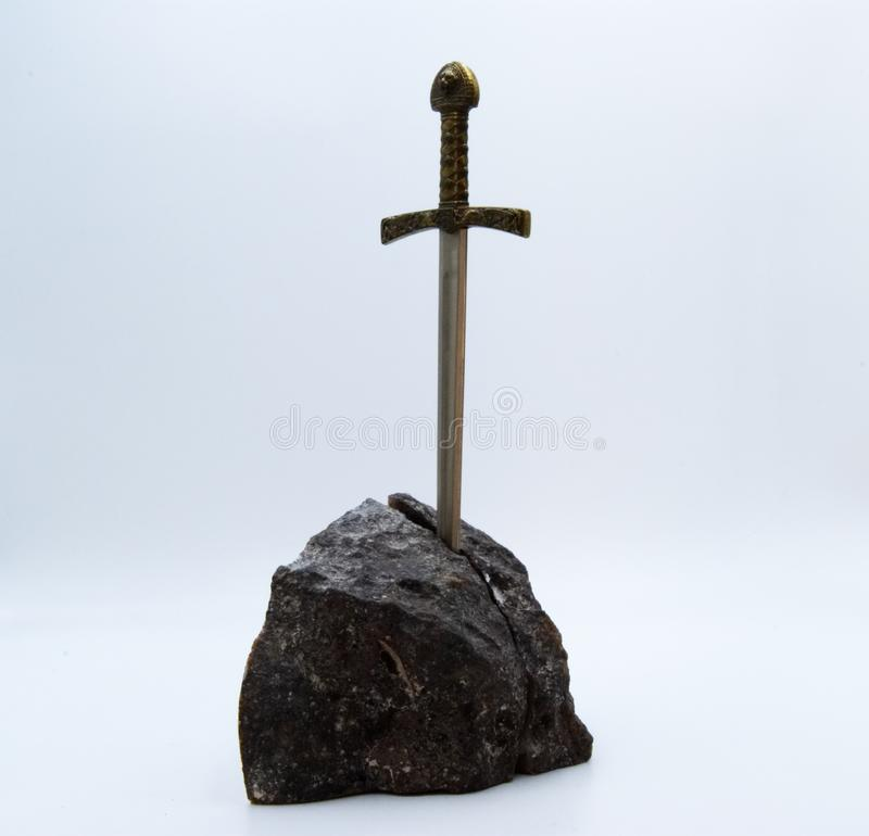 La spada di Excalibur fotografia stock