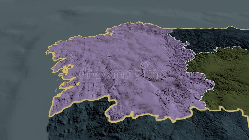 Cartina Spagna Galizia.Mappa Amministrativa E Politica Della Galizia Di Vettore Spagna Illustrazione Vettoriale Illustrazione Di Tracciato Programma 116782006