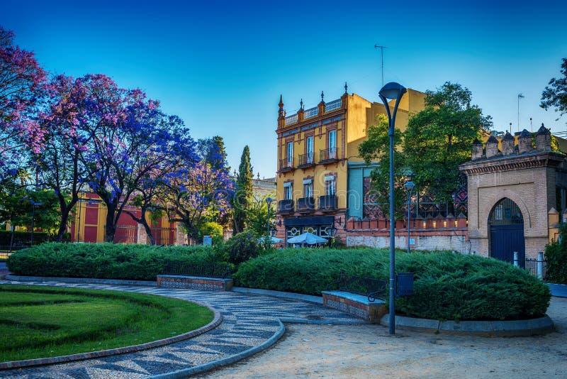 La Spagna: parco in Siviglia immagini stock