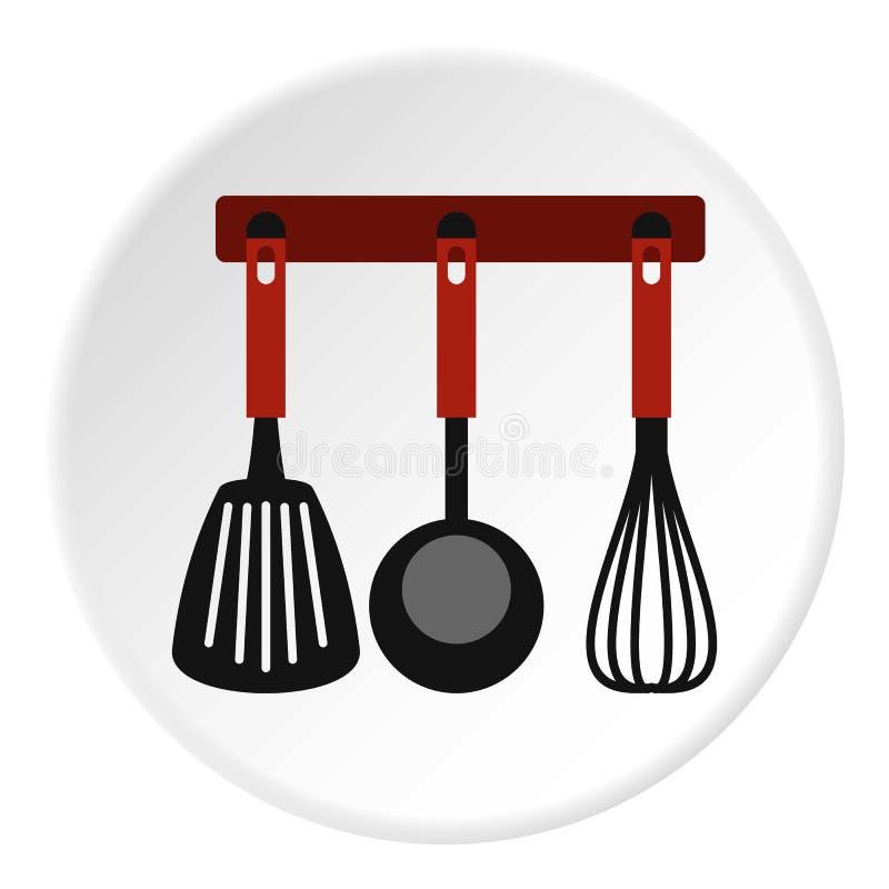 La spatule, battent et poche sur l'icône de cintre illustration libre de droits