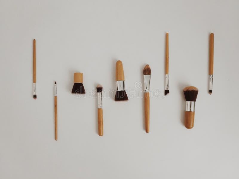 La spazzola compone fotografia stock