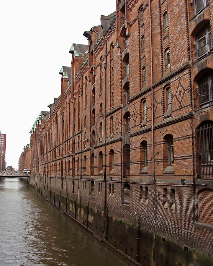 La Speicherstadt-II-Hambourg-Allemagne image stock