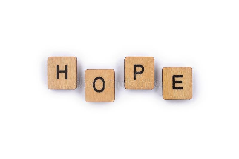 La speranza di parola immagini stock libere da diritti