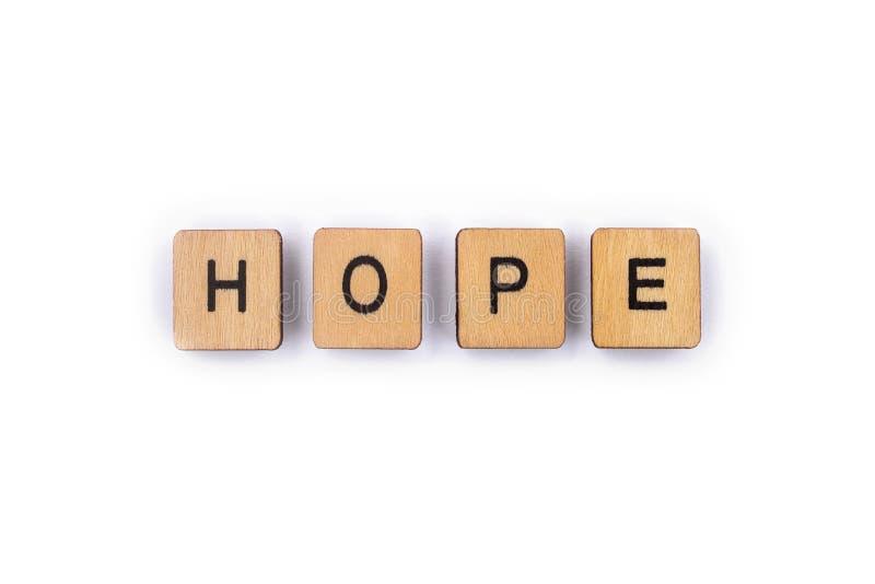 La speranza di parola immagini stock