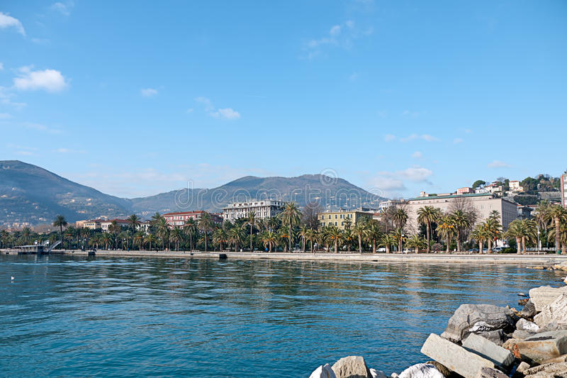 La Spezia - destinación Italia del acceso y del turista fotografía de archivo