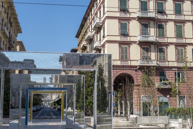 La Spezia: Giuseppe Verdi fyrkant arkivbild