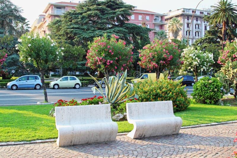 La Spezia i sommartid, Liguria region, Italien royaltyfri foto