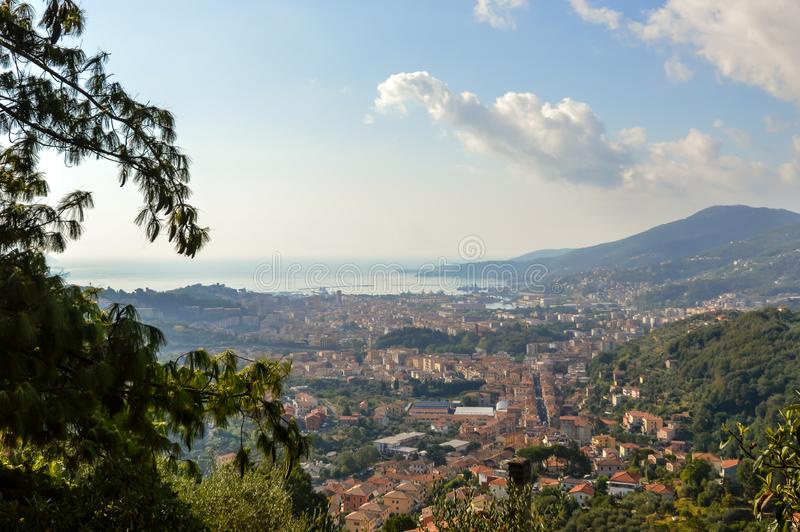 La Spezia Italia Italy beautiful view  landmark hill. Amazing view royalty free stock images