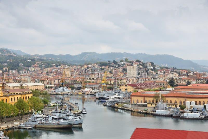 La Spezia, Italy. Port city in the region of Liguria royalty free stock images