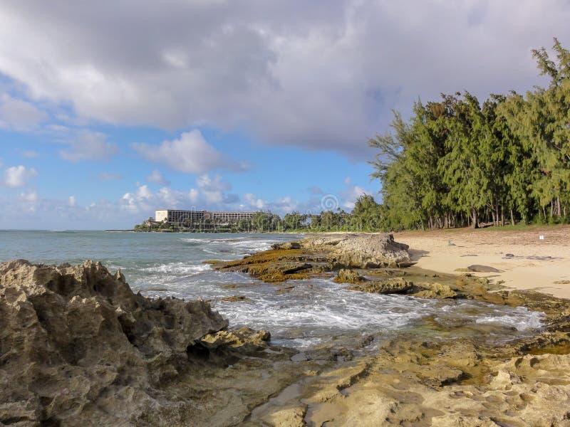 La spiaggia alla località di soggiorno della baia della tartaruga fotografie stock libere da diritti