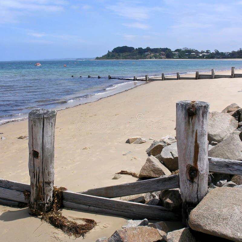 La spiaggia a Balnarring fotografie stock