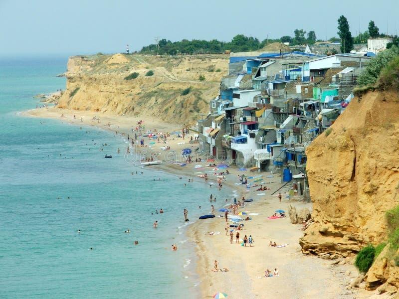 La spiaggia della Crimea fotografia stock