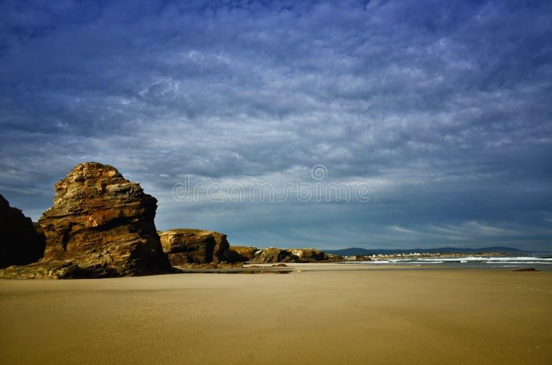 La spiaggia delle cattedrali ? una di spiagge pi? belle in Spagna, situato in Galizia nel Nord della Spagna fotografia stock