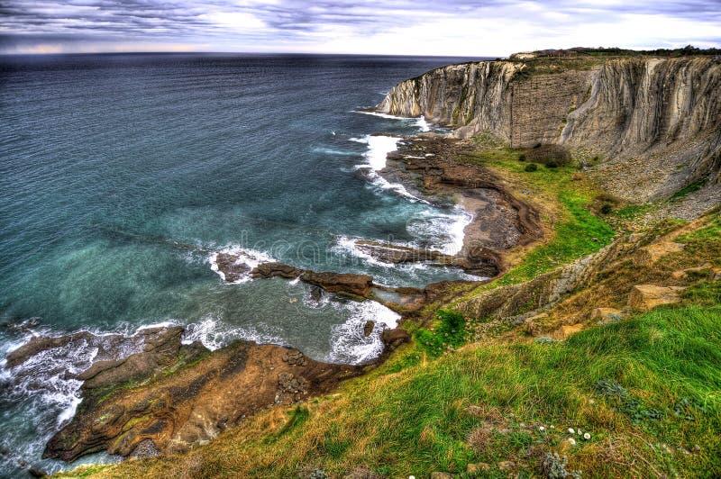La spiaggia di Algorta fotografia stock libera da diritti