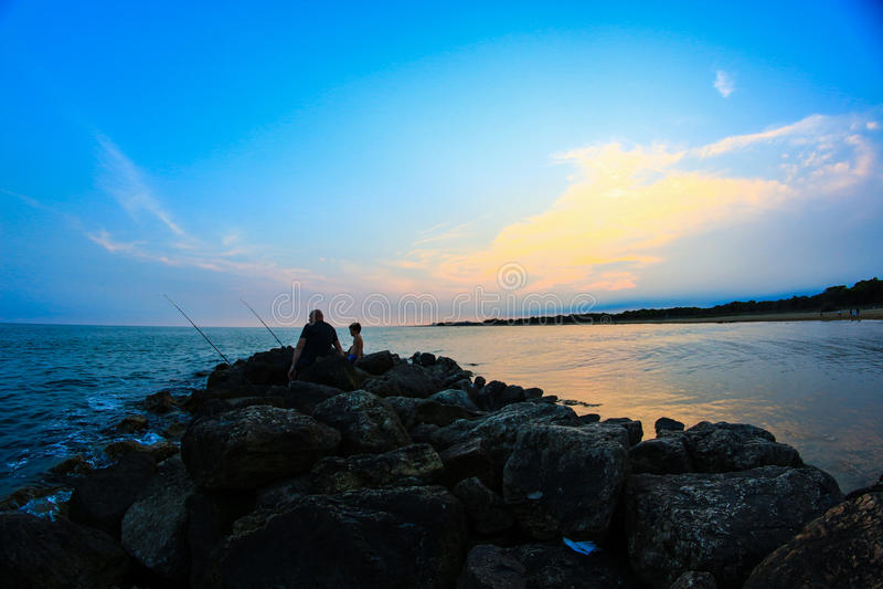 La spiaggia di Bibione immagini stock libere da diritti