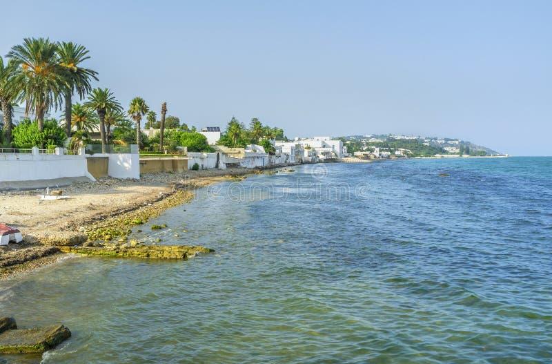 La spiaggia di Cartagine fotografia stock