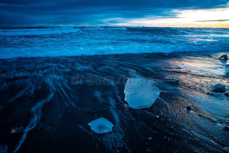 La spiaggia di Diamond in Islanda immagini stock