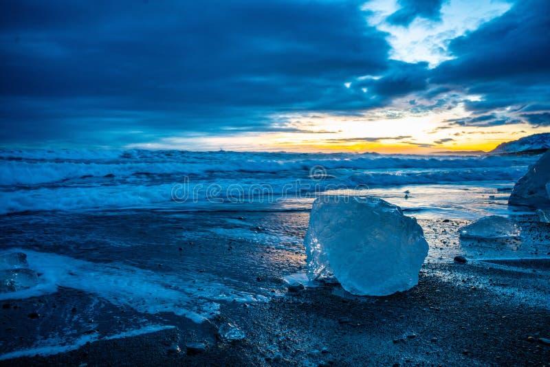 La spiaggia di Diamond in Islanda immagini stock libere da diritti