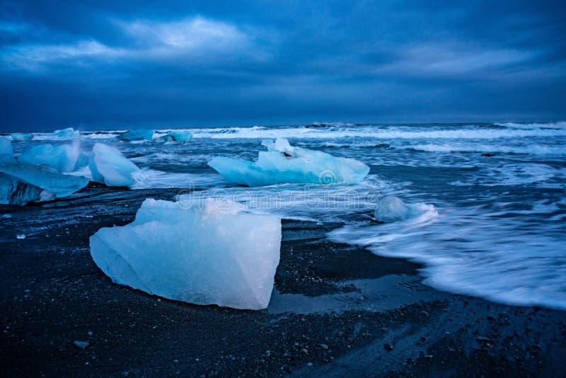 La spiaggia di Diamond in Islanda fotografie stock libere da diritti