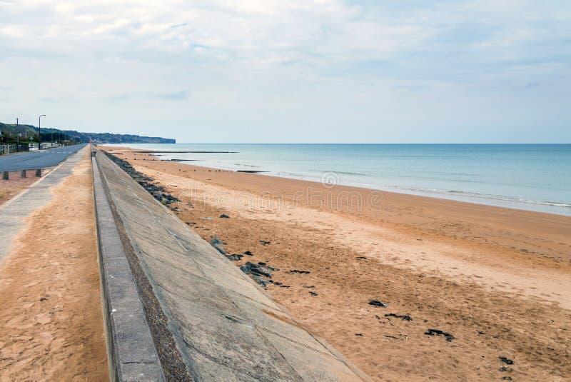 La spiaggia di Omaha è una delle cinque spiagge d'atterraggio fotografia stock libera da diritti