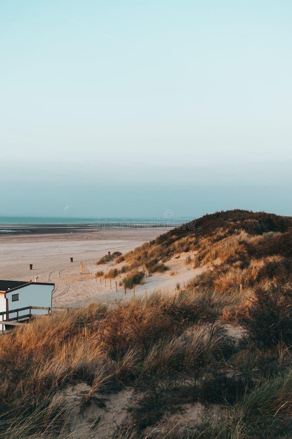La spiaggia di Ouddorp, Paesi Bassi fotografia stock libera da diritti