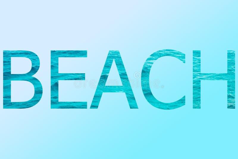 La spiaggia di parola illustrazione vettoriale
