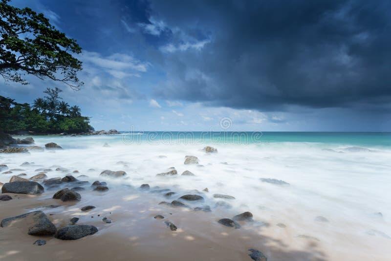 La spiaggia Laem canta a Phuket fotografia stock