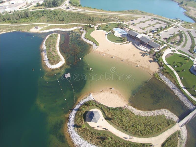 La spiaggia sorvola immagine stock